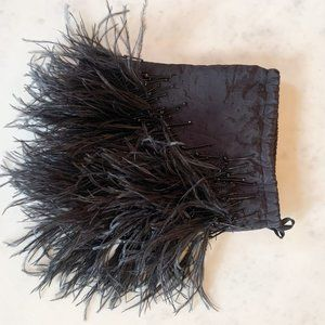 ATTICO Ostrich Feathered Embellished Pouch